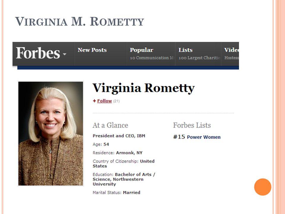Virginia M. Rometty
