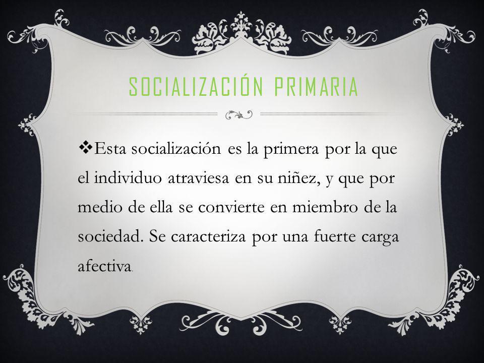 Socialización primaria