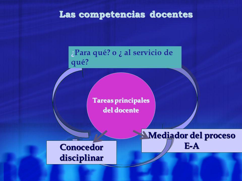Las competencias docentes