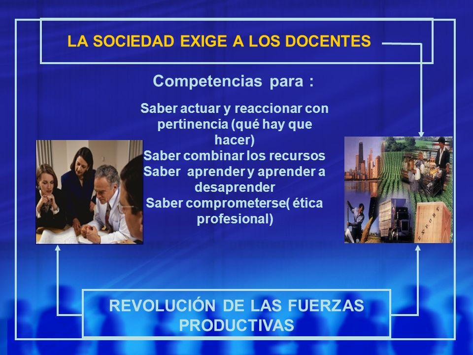 LA SOCIEDAD EXIGE A LOS DOCENTES