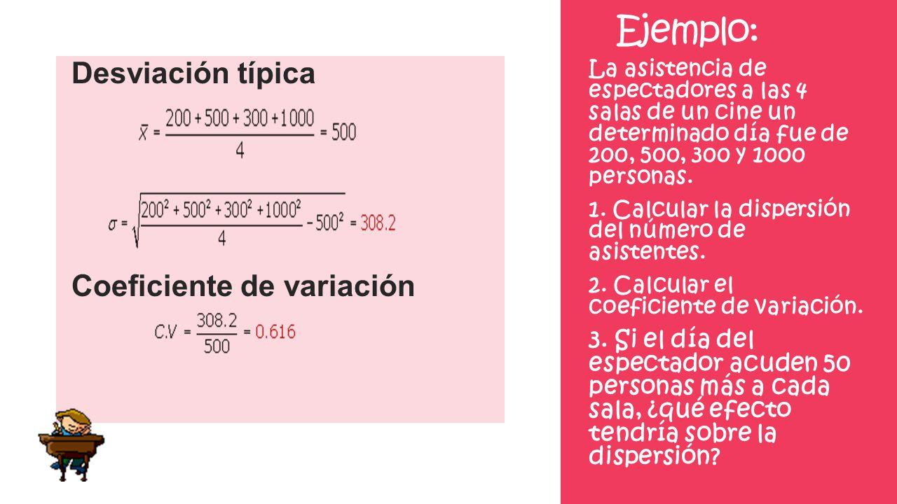 Ejemplo: Desviación típica Coeficiente de variación