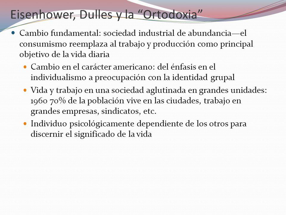 Eisenhower, Dulles y la Ortodoxia