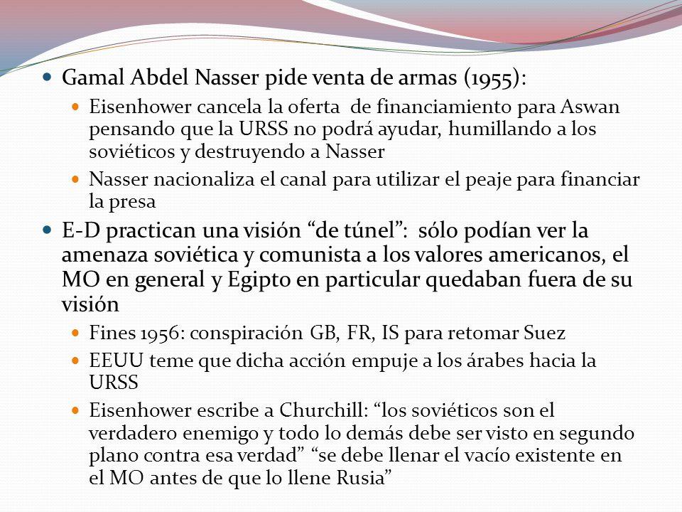 Gamal Abdel Nasser pide venta de armas (1955):