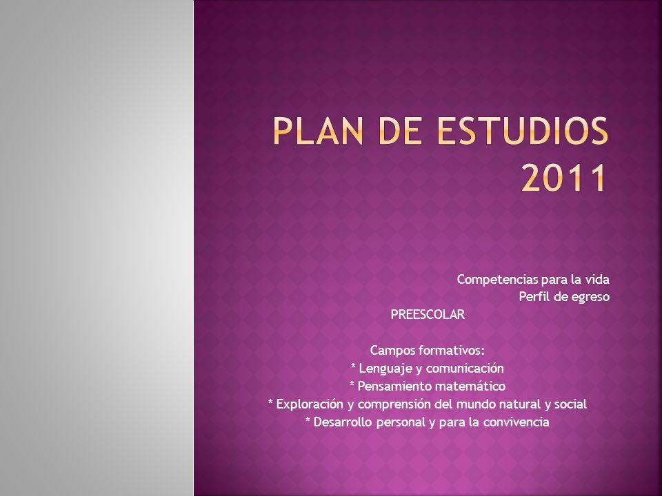 Plan de estudios 2011 Competencias para la vida Perfil de egreso
