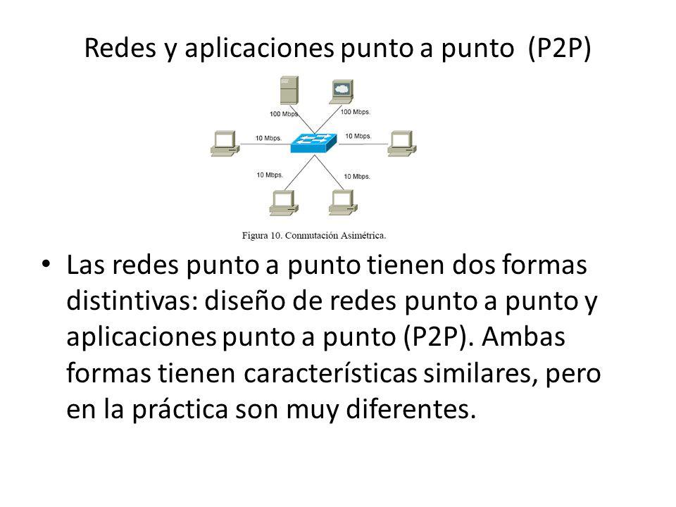 Redes y aplicaciones punto a punto (P2P)