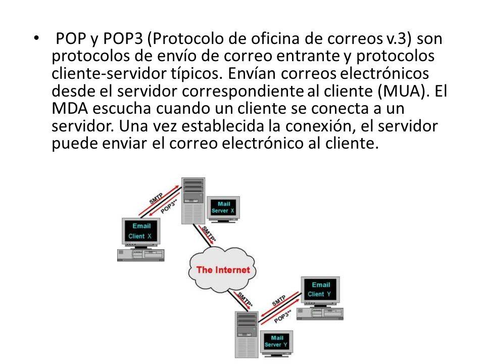 POP y POP3 (Protocolo de oficina de correos v