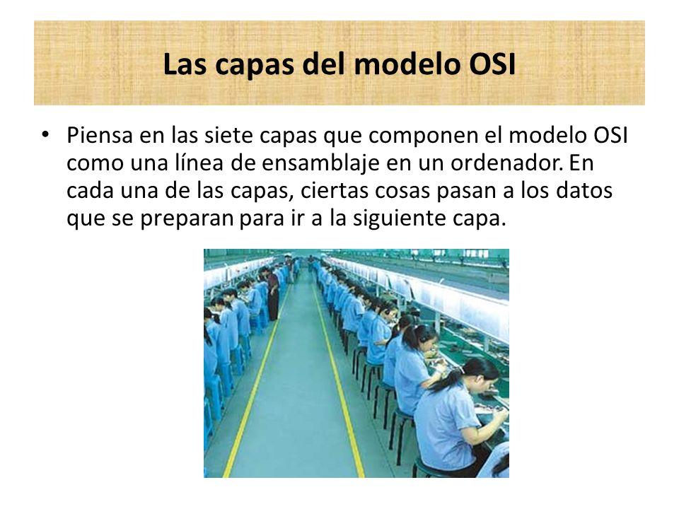 Las capas del modelo OSI
