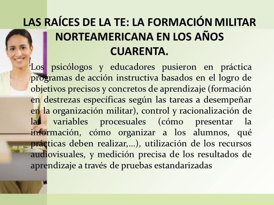 LAS RAÍCES DE LA TE: LA FORMACIÓN MILITAR NORTEAMERICANA EN LOS AÑOS CUARENTA.