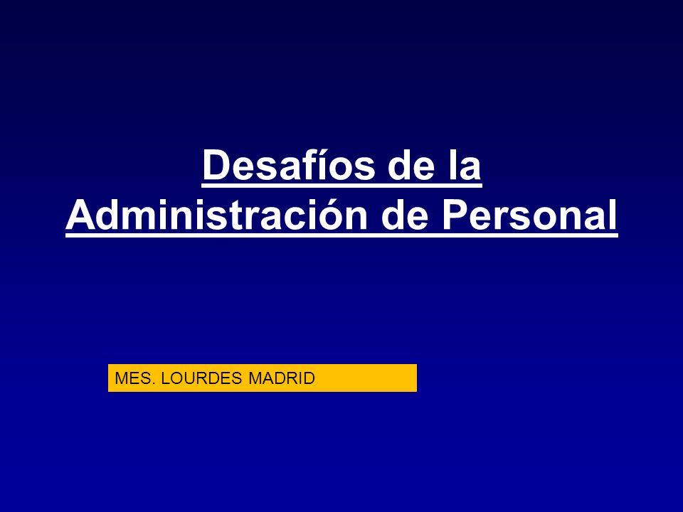 Desafíos de la Administración de Personal