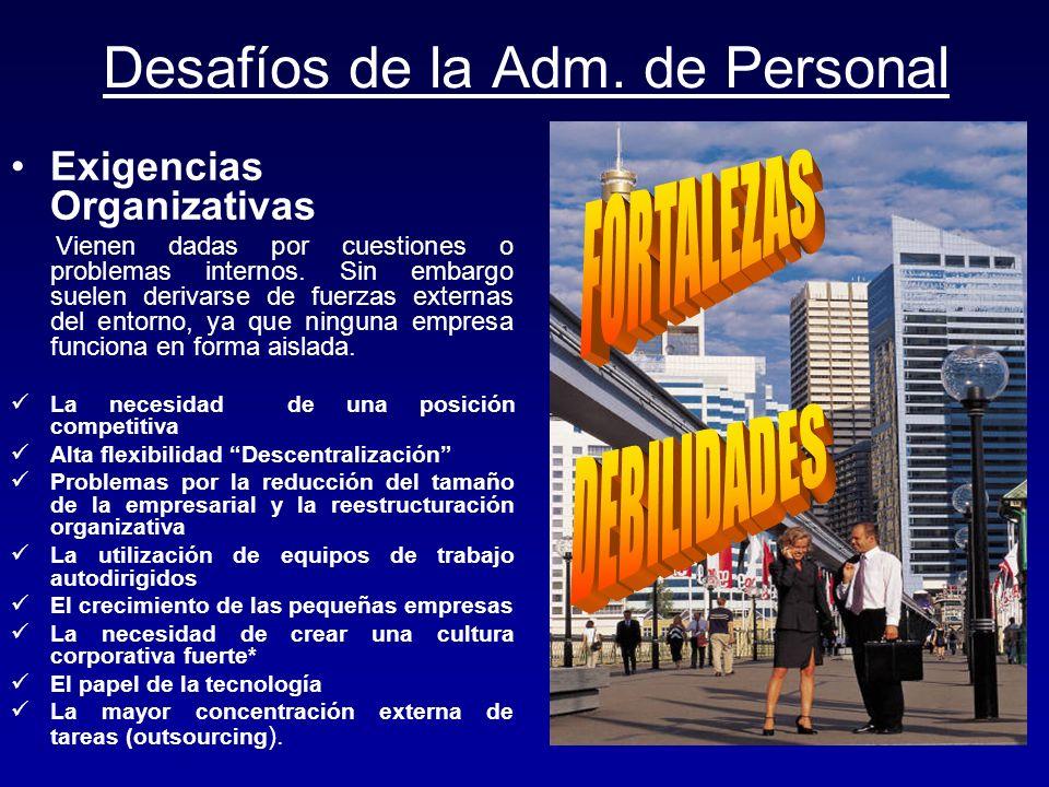 Desafíos de la Adm. de Personal