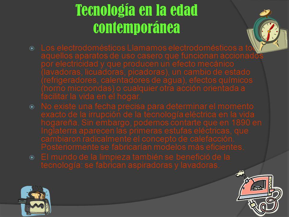 Tecnología en la edad contemporánea