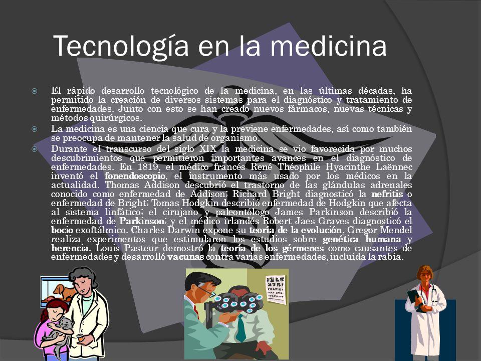 Tecnología en la medicina