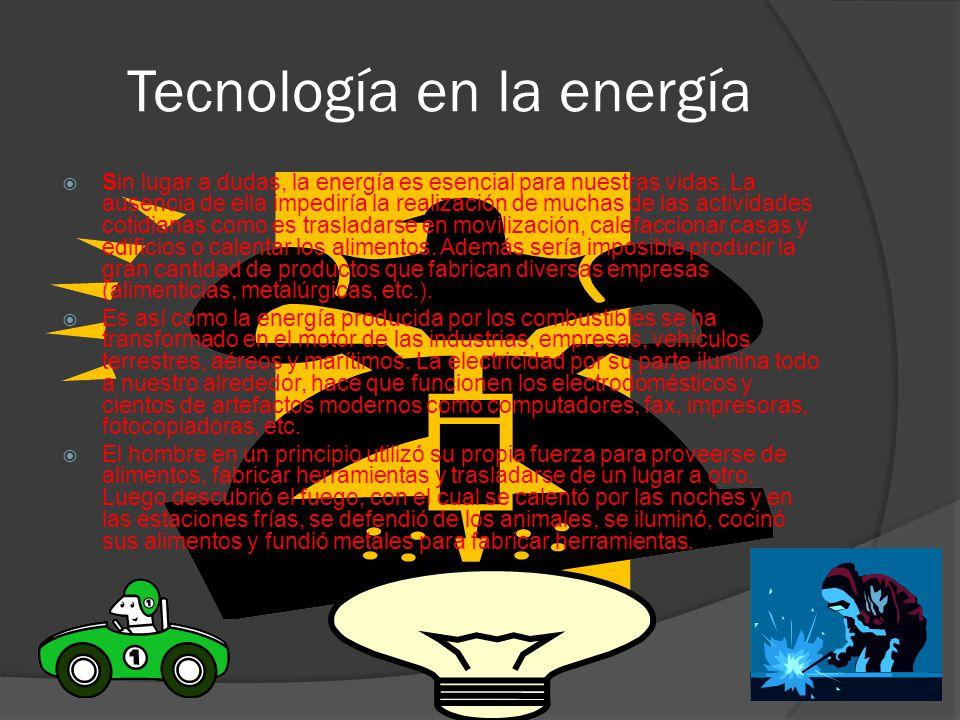 Tecnología en la energía