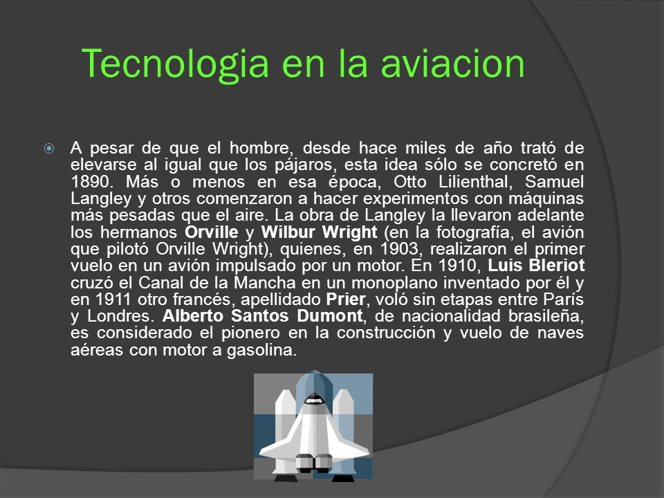 Tecnologia en la aviacion