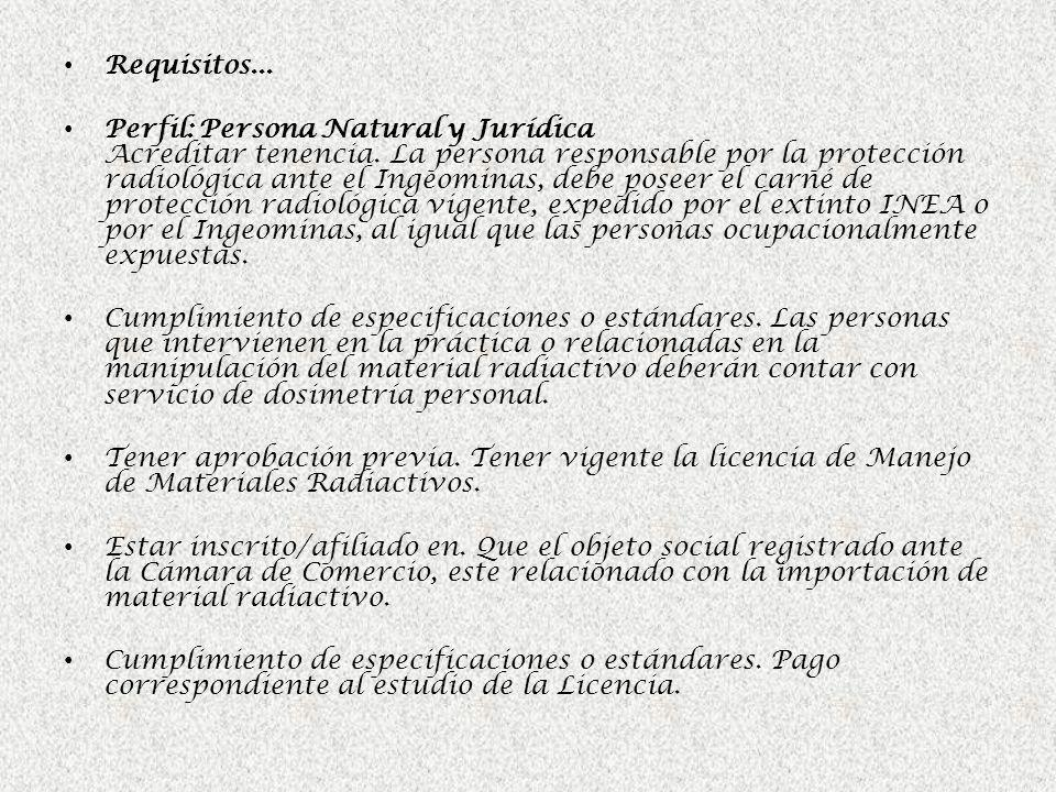 Requisitos...