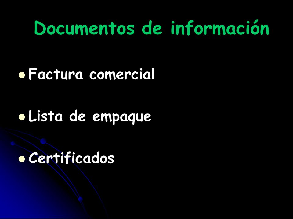 Documentos de información