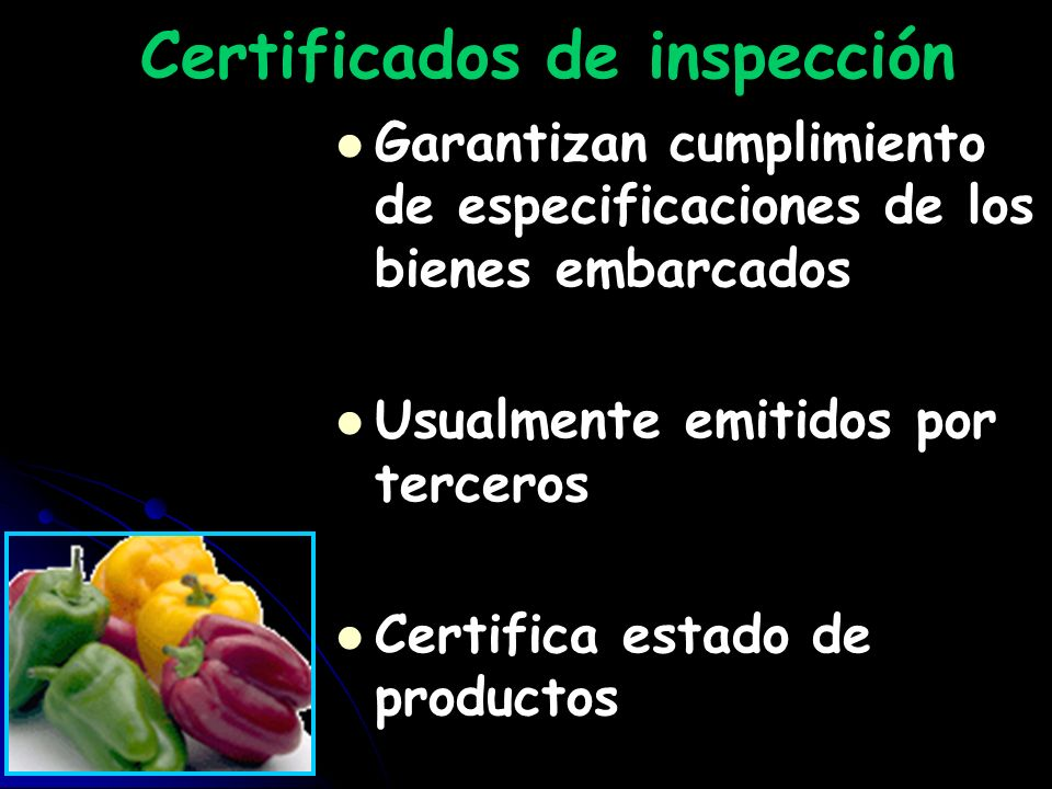 Certificados de inspección