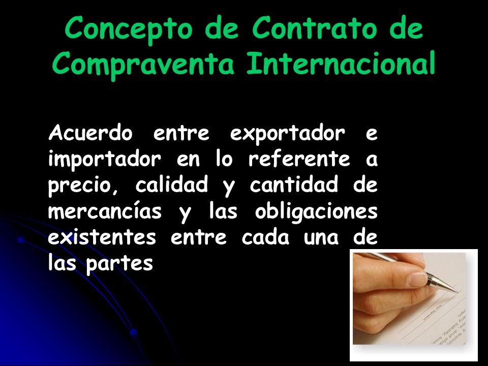 Concepto de Contrato de Compraventa Internacional