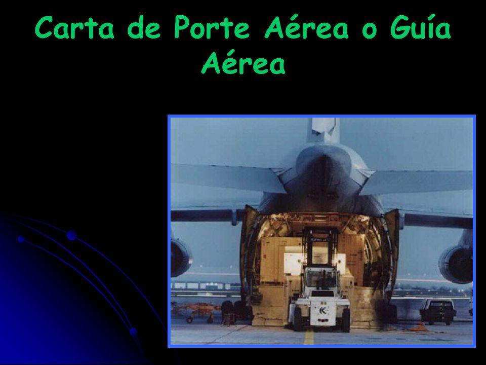 Carta de Porte Aérea o Guía Aérea