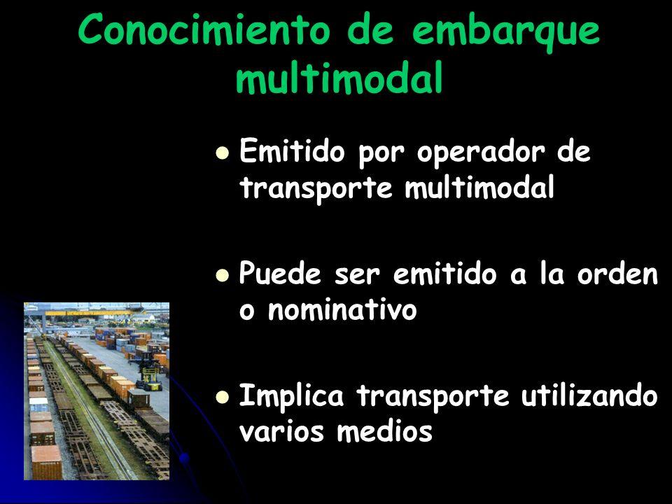 Conocimiento de embarque multimodal