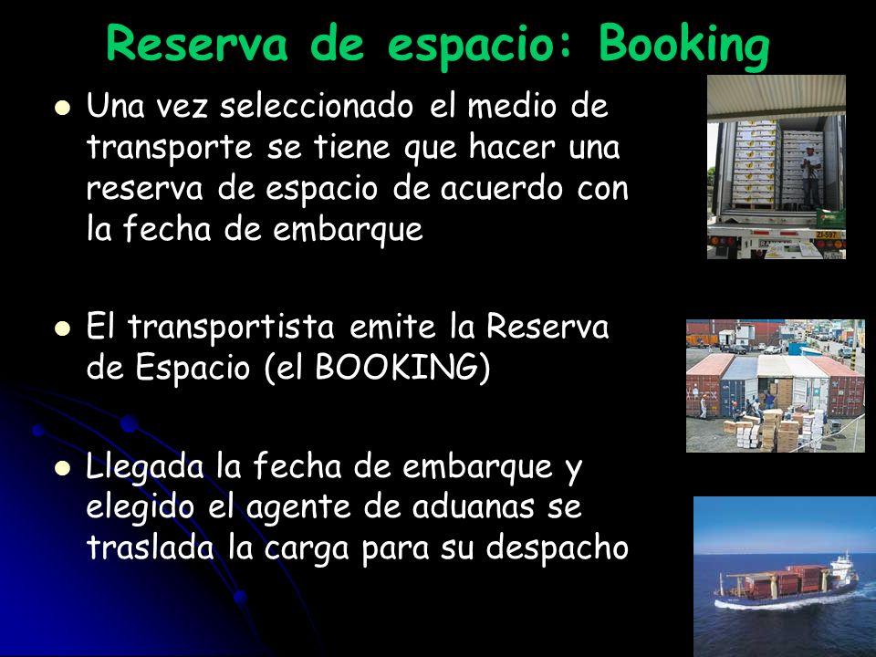 Reserva de espacio: Booking