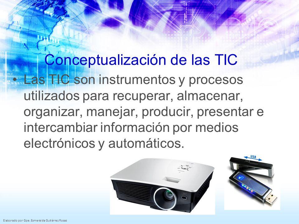 Conceptualización de las TIC