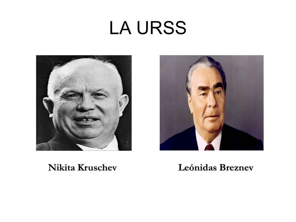 LA URSS Nikita Kruschev Leónidas Breznev