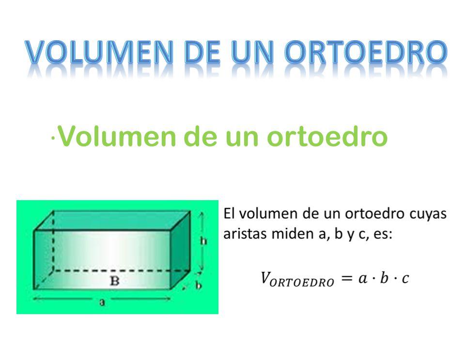 ·Volumen de un ortoedro