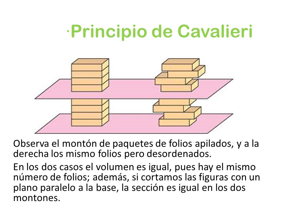 ·Principio de Cavalieri