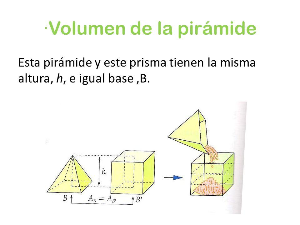 ·Volumen de la pirámide