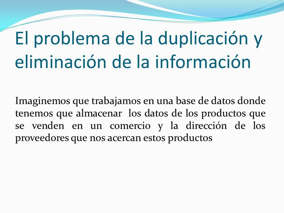 El problema de la duplicación y eliminación de la información