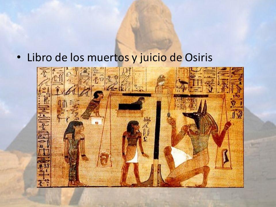 Libro de los muertos y juicio de Osiris