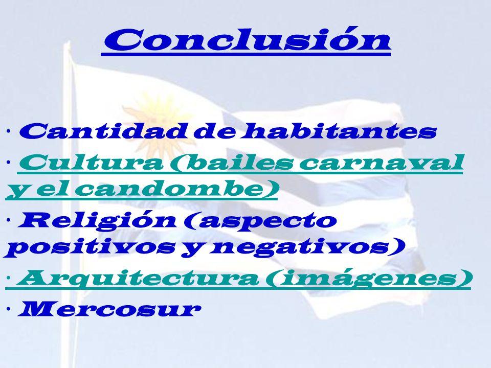 Conclusión · Cantidad de habitantes
