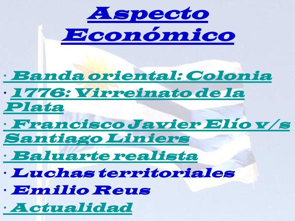 Aspecto Económico · Banda oriental: Colonia