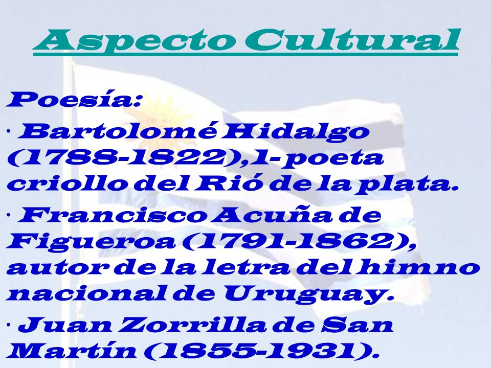 Aspecto Cultural Poesía:
