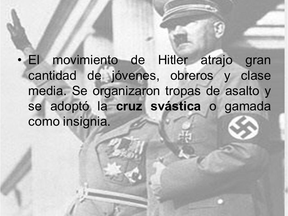 El movimiento de Hitler atrajo gran cantidad de jóvenes, obreros y clase media.