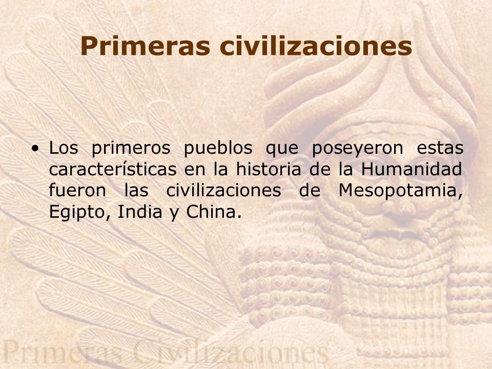 Primeras civilizaciones