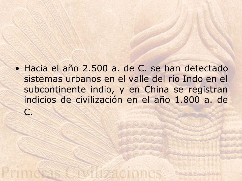 Hacia el año 2.500 a.de C.