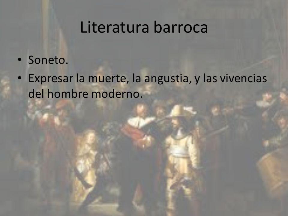 Literatura barroca Soneto.