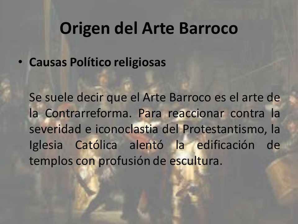 Origen del Arte Barroco