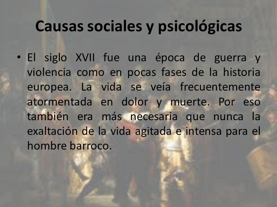 Causas sociales y psicológicas