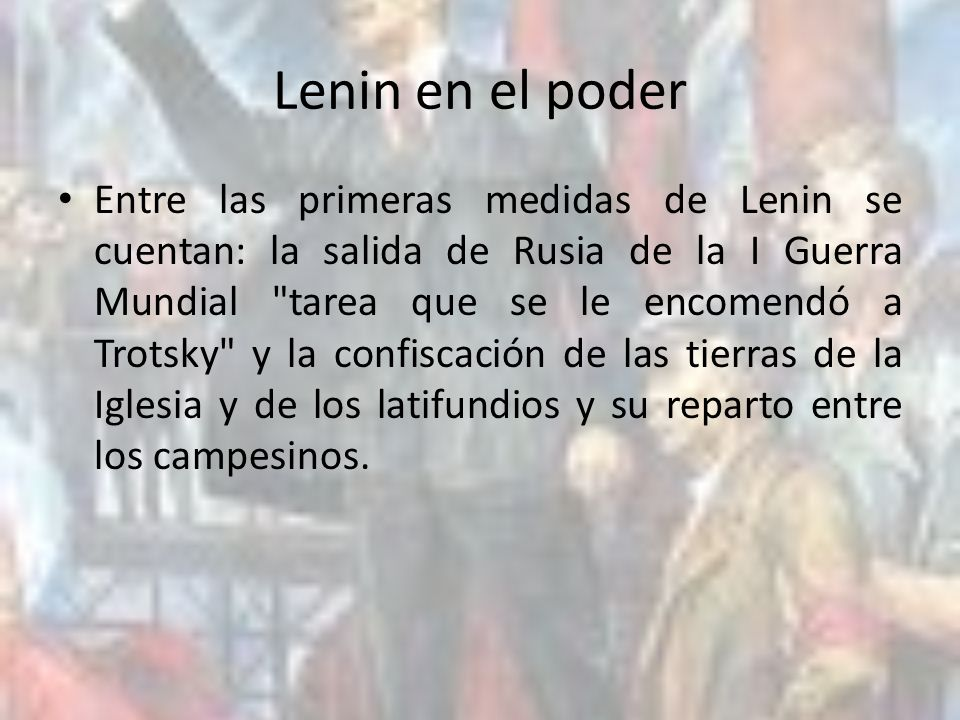 Lenin en el poder