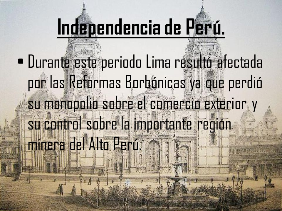 Independencia de Perú.