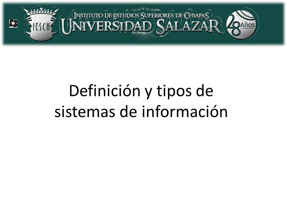 Definición y tipos de sistemas de información