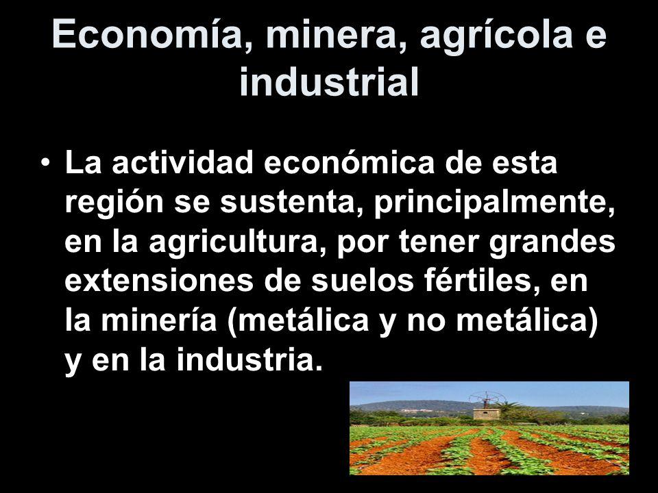 Economía, minera, agrícola e industrial