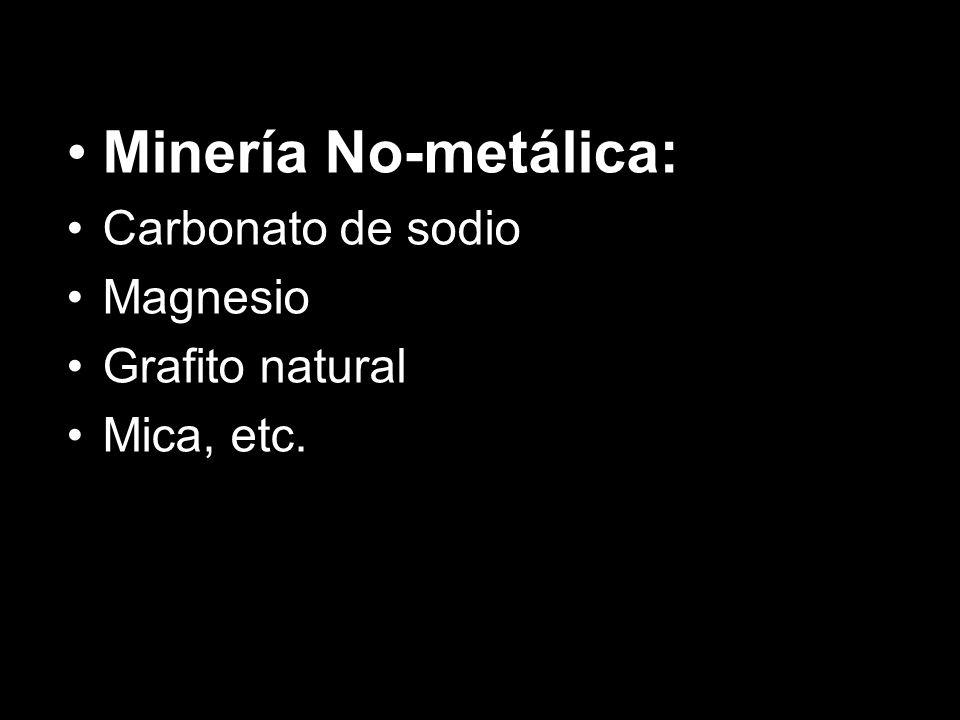 Minería No-metálica: Carbonato de sodio Magnesio Grafito natural