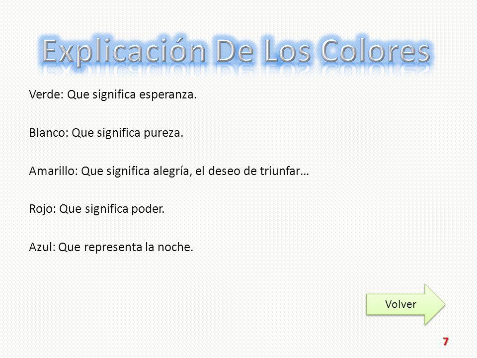 Explicación De Los Colores