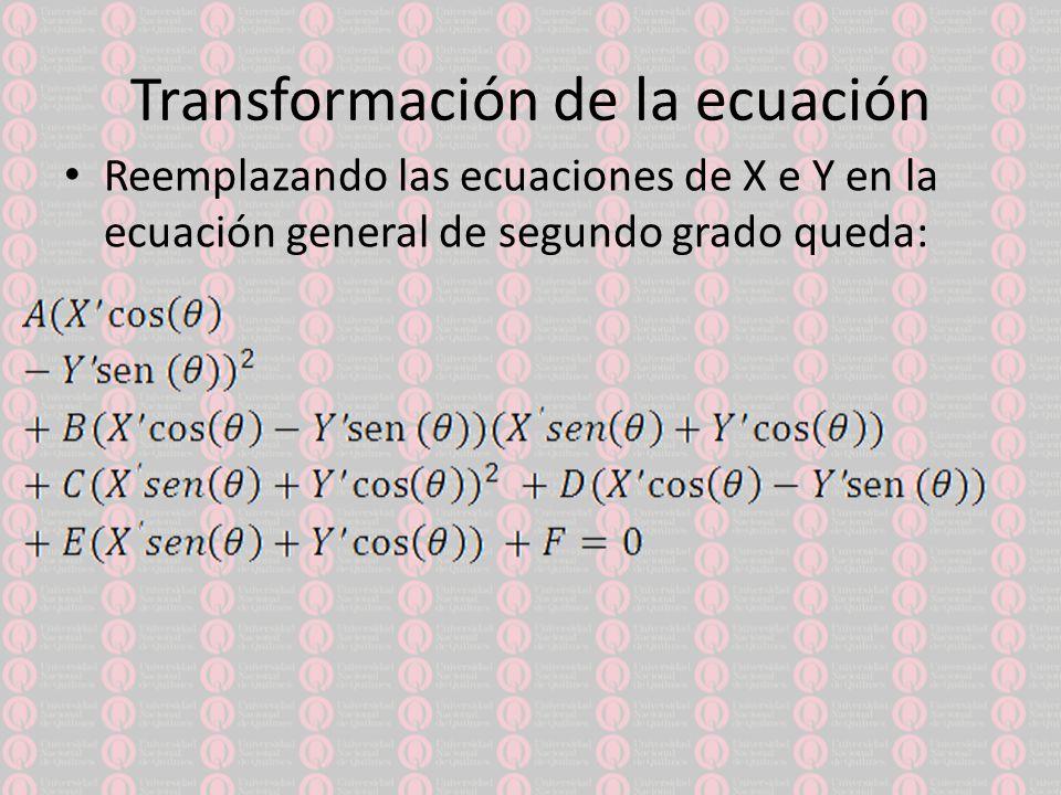 Transformación de la ecuación