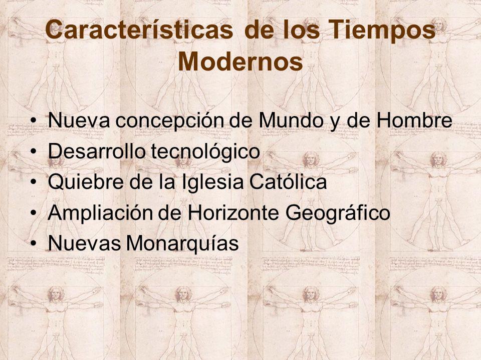 Características de los Tiempos Modernos