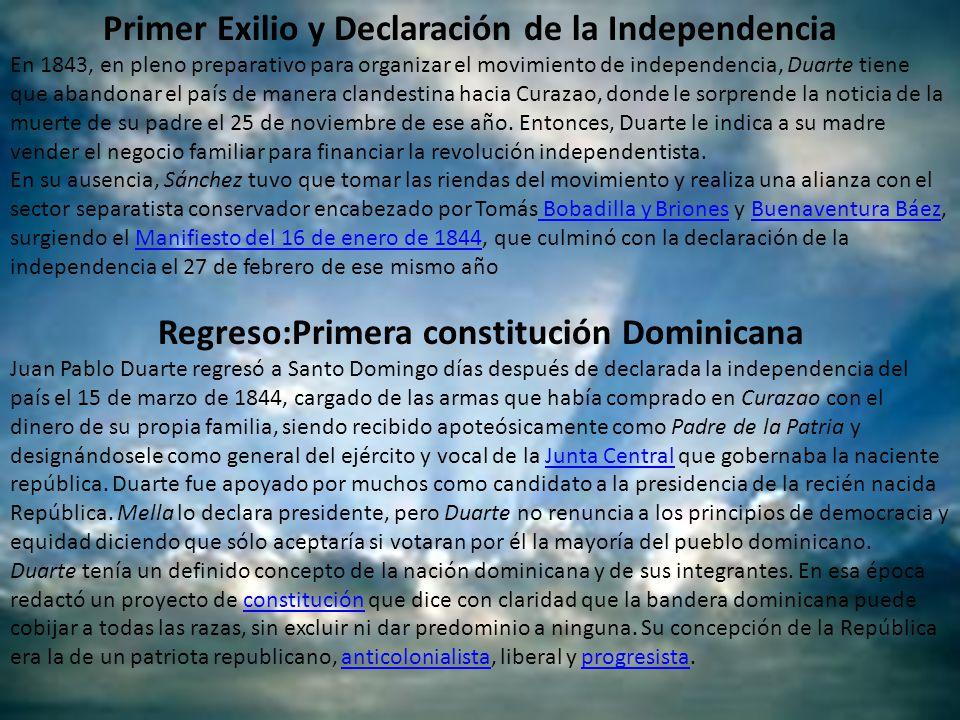 Primer Exilio y Declaración de la Independencia